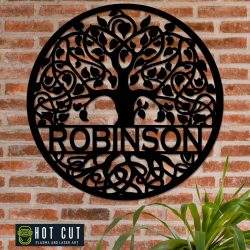 Tree of Life Round Monogram