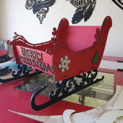 painted sleigh